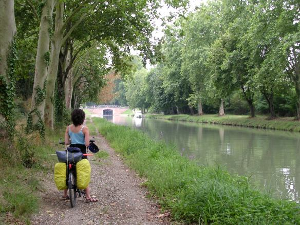 Relaxing riding along the canal