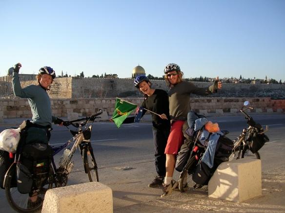 Our ungainly celebration dance in Jerusalem!