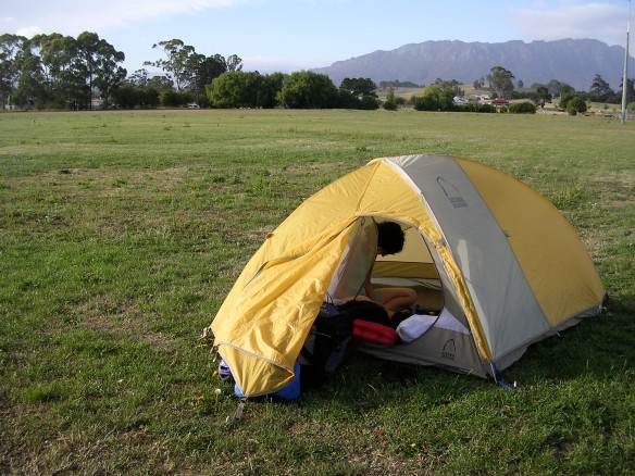 Camping on the local cricket/football field