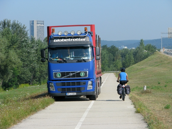 Why is there a truck on our bike path in Slovakia?