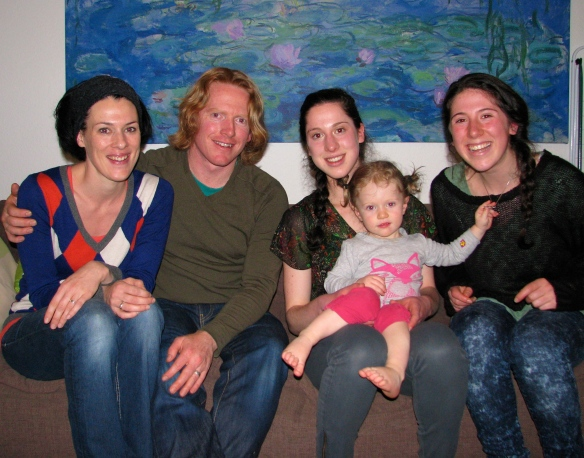 Cayci and Shayna (Mic's ex-students) happened to be in Berlin and dropped in for dinner.