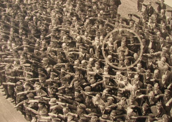 As one behind their Führer.