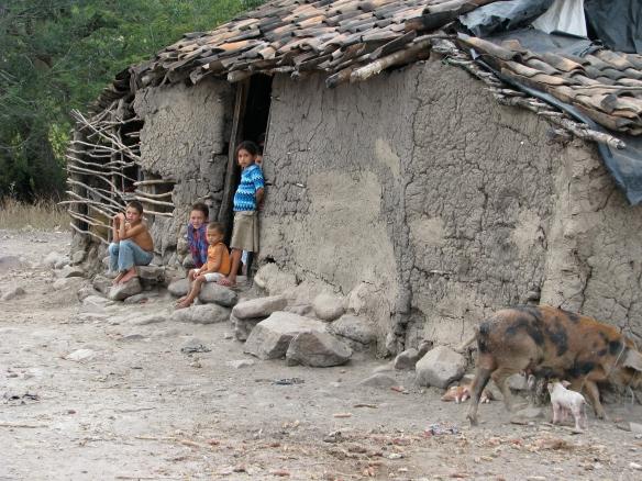 Typical housing in rural Nicaragua