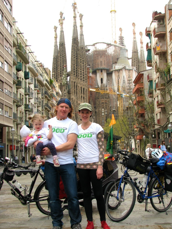 The all important shot in front of Gaudi's iconic Sagrada Familia.