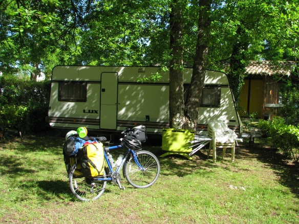 The caravan that saved me. NOTE: A brief appearance of sunshine!