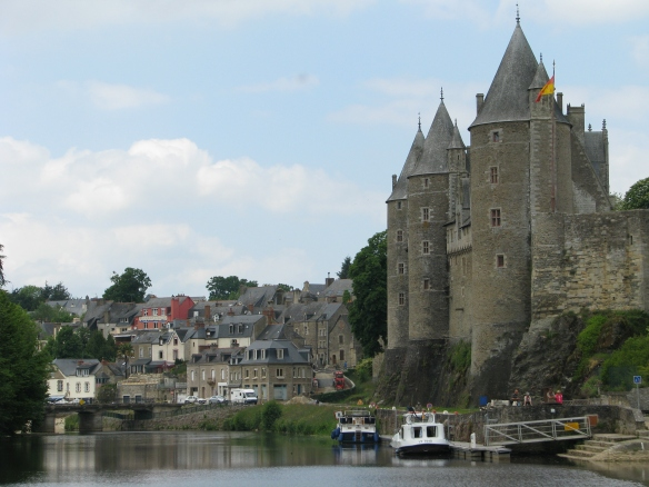 An amazing castle in a city called Joselyn along the Nantes-Brest canal.