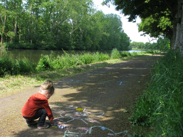 Amaya continued her passion for graffiti along the canal