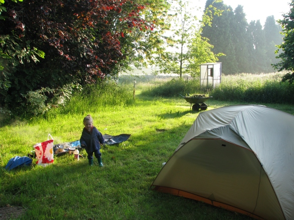 This was a cool campground in an old guys backyard - total cost of 3.80 Euros!
