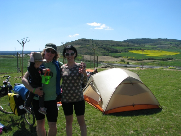 Cool campground on el camino de Santiago in Spain