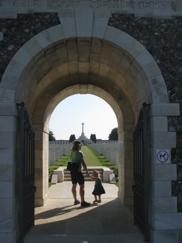 Entrance to the commonwealth cemetery.