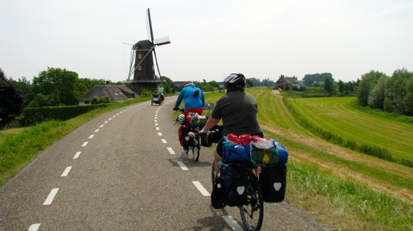 Not an unusual experience in Holland to ride past an iconic windmill.