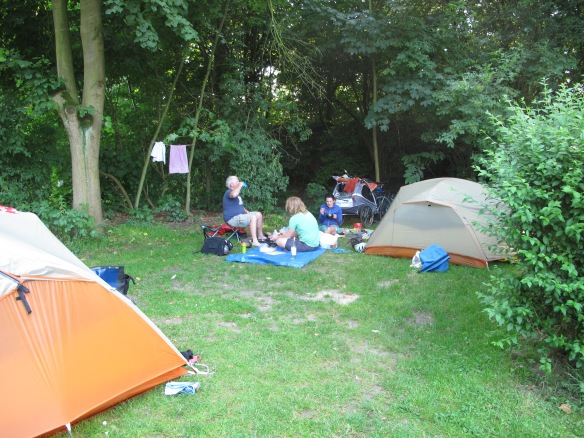 Typical campground in Belgium