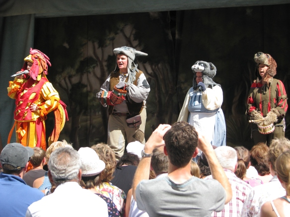 The Grimm Brother's fable is acted out every Sunday in the town square.